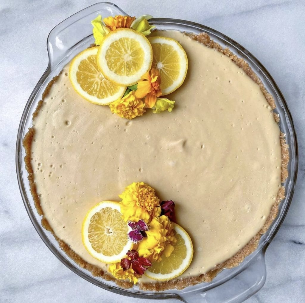 vegan lemon cheesecake holiday dessert