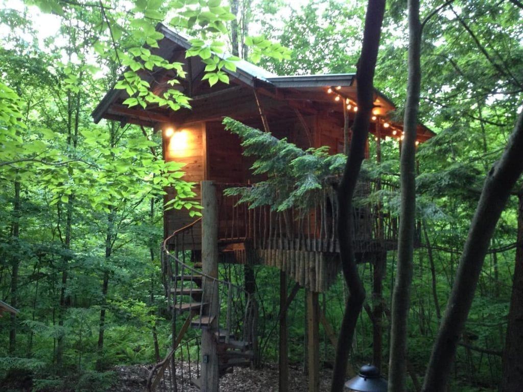 7 treehouses in upstate new york