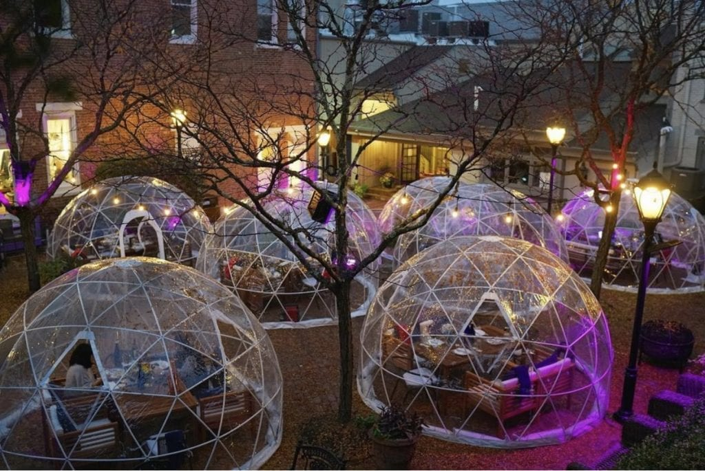 outdoor dining igloos new jersey