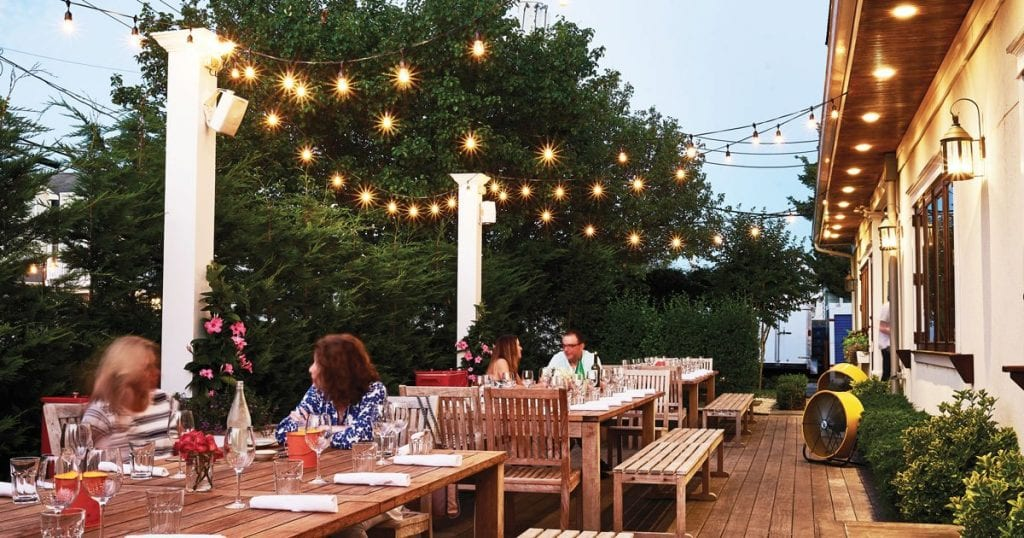 Avalon outdoor dining